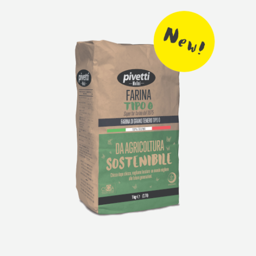 "Type ""0"" flour from sustainable farming"